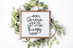 """""""Sarcasm when you can't afford therapy!"""" SVG PNG DX Product Image 2"""