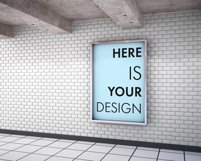 Mockup billboards in the subway Product Image 6