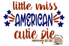 little miss american cutie pie Girl America July 4th svg dxf Product Image 2