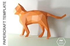 PDF TEMPLATE OF CAT PAPERCRAFT / 3D PAPERCRAFT LOWPOLY Product Image 4