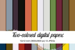 Two-colored digital papers Product Image 1