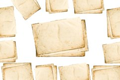 old Sheets of paper on a white background. Product Image 1