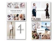Fashion Social Media Pack, Social Media Bundle, 20 Square Social Media Templates, Instagram Template Pack, Social Media Graphics Pack Product Image 5