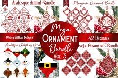 Mega Ornament SVG Bundle 3   Arabesque Christmas Ornaments Product Image 1