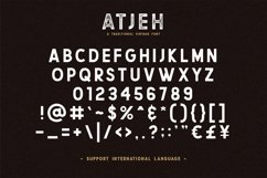 Atjeh - A Traditional Vintage Font | 4 Font Files Product Image 4