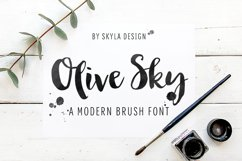 Modern brush font - Olive Sky Product Image 1