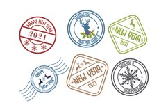 2021 New Year Stamp Badge Product Image 1