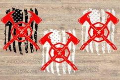 Firefighter flag svg, firefighter svg, US flag svg, 1681S Product Image 2