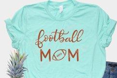Football mom SVG - sports mom SVG file, handlettered Product Image 2