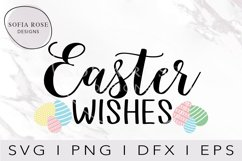 Easter SVG, Easter Eggs SVG, Easter Wishes SVG, Cut Files Product Image 1