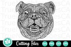 Zentangle English Bulldog - A Zentangle SVG Cut File Product Image 1