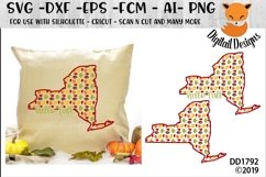 New York Autumn Fall Leaves Pattern SVG Product Image 1