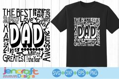 Dad SVG, Father's Day SVG, typography word art Svg, Eps, Dxf Product Image 1