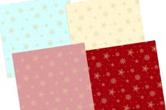 Gold Snowflakes Digital Papers Seamless Patterns Product Image 3
