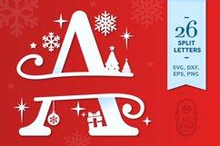 Christmas Monogram Alphabet - Christmas Split Letters Product Image 1