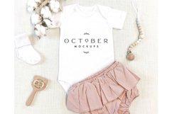 Mockup bundle JPG   Baby Girl Bodysuit White   Sublimate bla Product Image 6