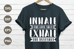 Inhale exhale SVG Product Image 1
