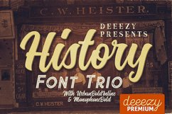 History Font Trio Product Image 1