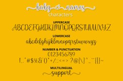 Baby Names - Boy and Girl Font Product Image 2