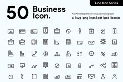50 Business Line Icon Product Image 1