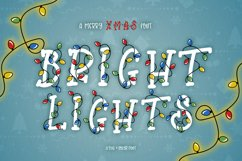 Bright Lights // A Merry Christmas Font Product Image 1