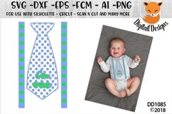 First Birthday Tie SVG - Silhouette - Cricut Product Image 1