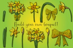 Daffodil Clipart   Spring Daffodil Flowers Bundle Product Image 2
