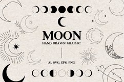 Moon vector icons, Moon Clipart, Logo Elements Product Image 1