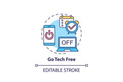 Go tech free concept icon Product Image 1