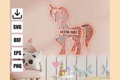 Layered unicorn custom and monogram unicorn, easy to cut Product Image 4