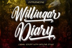 Outline Script - Willingar Diary Product Image 1