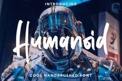 Web Font Humanoid - Cool Handbrushed Font Product Image 1