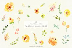 Watercolor flowers - Yellow February Product Image 2