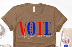 Vote make your voice heard - US Election Quote SVG Product Image 3