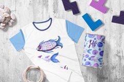 Tribal Fish - watercolor set Product Image 5