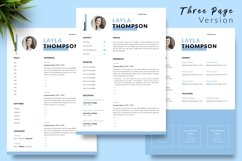 Simple Resume CV Template for Word & Pages Layla Thompson Product Image 4