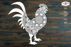 Cool rooster. Frame, monogram, silhouette. Product Image 4