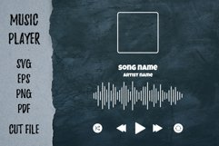 Player song covers, progress bar and button templates SVG Product Image 5