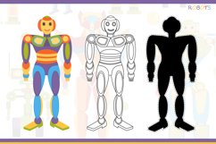 Funny robots. Coloring. Product Image 5