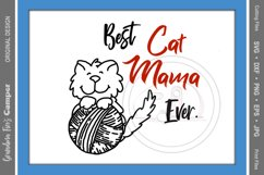 Mother's Day SVG, Best Cat Mama Ever Product Image 1
