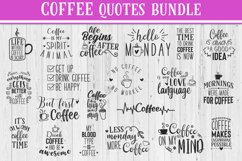 SALE! 20 Coffee quotes bundle, Quote sign svg, coffee quote Product Image 1