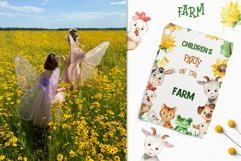 Farm Watercolor Clipart. Cards, frames, seamless patterns Product Image 12