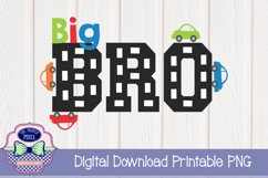 Car Themed Big Brother Sibling Design Product Image 1
