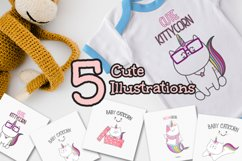 Set cute Illustration caticorn for Baby Shower Product Image 4