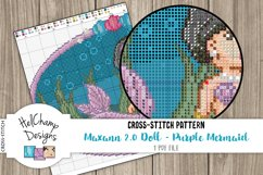 Cross-stitch pattern - Purple Mermaid Maxann 2.0 - CS001 Product Image 3