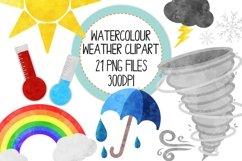 Watercolor Weather Clip Art Set Product Image 1