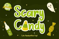 Scary Candy | Cute halloween font with illustration Product Image 1