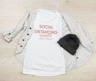 Social distancing expert - always and forever / Funny SVG Product Image 2