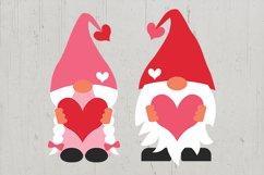 Valentine gnomes, valentines day gnomes sublimation png svg Product Image 5