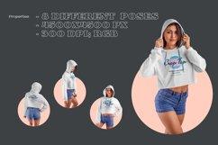 8 Women Crop Top Hoodie Mockups Product Image 5